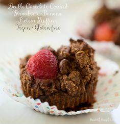 vegan chocolate protein muffins