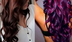 Manic Panic Vampire Red And Purple Haze. I have both these colours. Maybe I can do this....