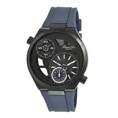 Kenneth Cole New York Men's KC1680 Analog Black Skeleton Dial Watch - http://www.specialdaysgift.com/kenneth-cole-new-york-mens-kc1680-analog-black-skeleton-dial-watch/