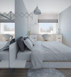 furnishing ideas bedroom drawer Desk white gray