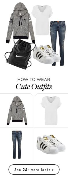 """Cute casual everyday outfit"" by femgaymer1204 on Polyvore featuring adidas Originals, WearAll and NIKE"