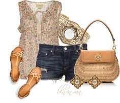 """Denim Shorts"" by bln-in-mn ❤ liked on Polyvore"