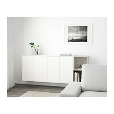 EKET Wall-mounted cabinet combination - white/dark gray/light gray - IKEA
