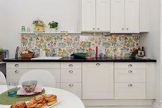parede estampada na cozinha - Pesquisa Google