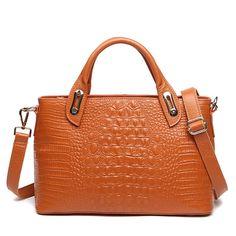 Crocodile leather bag Best Genuine Leather women handbag