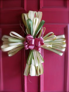 Front Door Palm Wreath.  Happy Palm Sunday!