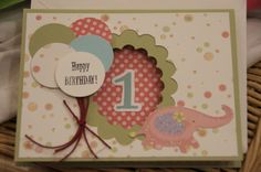 Made this one for baby E's 1st birthday