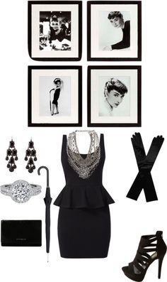 """Audrey Hepburn inspired"" by houseofvavoom on Polyvore"