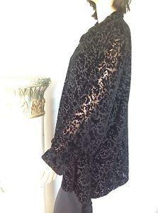 Blouse Women Plus Size 3X Black Paisley Velvetine Anne Carson Designer Fashion   eBay