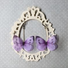 I Will Fly Away - Handmade Silk Organza Lilac Butterfly Earrings by TheButterfliesShop on Etsy
