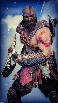 god of war God Of War Series, Kratos God Of War, Poses References, Gaming Wallpapers, Gears Of War, Cute Anime Couples, Video Game Art, The Witcher, Fantastic Art