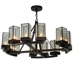 Parker Chandeliers shown in Mahogany Bronze by 2nd Avenue Lighting - 871195-36-ROUND