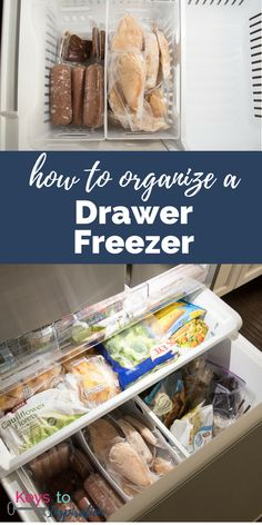 How to Organize a Drawer Freezer is part of Fridge Organization Bottom Freezer - How to organize a drawer freezer Make the most out of all the food storage space and create a system that works for your family Refrigerator Organization, Home Office Organization, Refrigerator Freezer, French Door Refrigerator, Organization Hacks, Fridge Storage, Organized Fridge, Household Organization, Business Organization