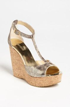 Jimmy Choo 'Pela' Cork Wedge Sandal available at #Nordstrom
