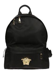 VERSACE MEDUSA BACKPACK. #versace #bags #nylon #backpacks #