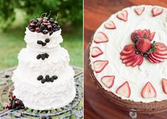 dark blue and red wedding | red and blue wedding cakes