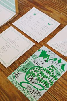 Playful wedding stationery from Mr. Boddington's Studio!  Photo: 822 Weddings