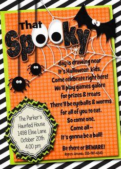 Halloween Invitation Halloween Party by AmandasPartiesToGo