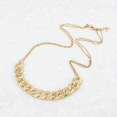COMING SOON! GOLD CHAIN NECKLACE Large chain links on a smaller chain necklace Jewelry Necklaces