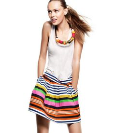 Colourful striped skirt. From H&M €14,95