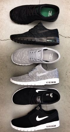 black + grey nikes