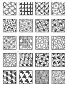 Zentangle - Inspiration Page Dibujos Zentangle Art, Zentangle Drawings, Doodles Zentangles, Doodle Drawings, Doodle Designs, Doodle Patterns, Zentangle Patterns, Doodle Borders, Tangle Doodle