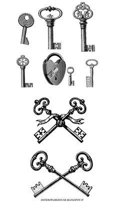 Sisters' Warehouse: Free Collage Sheet Keys