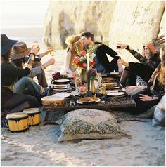 bohemian wedding dinner ...but on the lawns & a bit more classy?