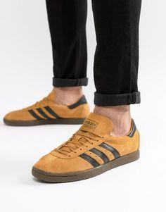 new concept 75b88 7acbb adidas Originals  adidas Originals Tobacco Sneakers In Yellow CQ2761 Adidas  Originales, Entrenadores, Asos