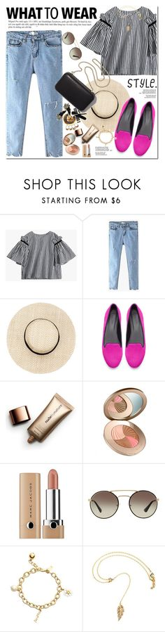 """""""Happy Saturday !!"""" by oshint ❤ liked on Polyvore featuring Clare V., Zara, Nude by Nature, Marc Jacobs, Prada and Kate Spade"""