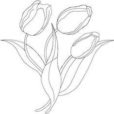 Tulip Embroidery Design by Anita Goodesign