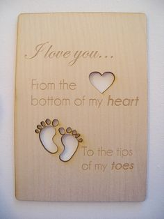 Valentine's Day Card-Birthday Card- Anniversary Card-Christmas Card- New Mom Card- New Dad Card-Laser Cut Wood Card-I love you from the... by ImpactEngraving on Etsy