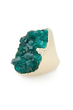 I wish I had beautiful long fingers to go with this amazing Kara Ross ring ...