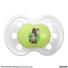 Cute mouse cartoon BooginHead pacifier
