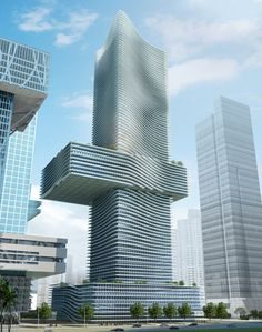 Four Towers Shenzhen - COOP HIMMELB(L)AU Wolf D. Prix, Helmut Swiczinsky + Partner / Shenzhen, China - http://www.coop-himmelblau.at/architecture/video/four-towers-shenzhen/