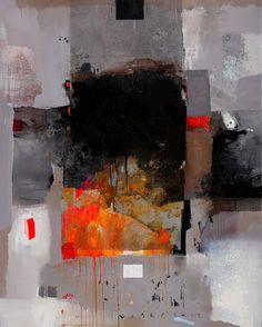 "Viktor Sheleg - ""Fireplace"" Mixed Media Painting"