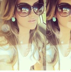 Love the earrings hair and shades.