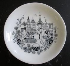 Arabia Finland small display plate, Emilia series, mid-century Scandinavian collectible, 14. $28.00, via Etsy.