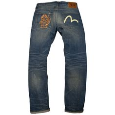 Evisu   Lot. 2008 Godhead Fishman Deck Wash Jeans