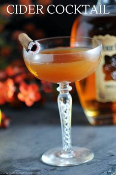 This Clove and Cider is a great fall cocktail! Bourbon, clove simple syrup, apple cider, amaro and lemon combine to make a great cocktail! #cocktails #whiskey #amaro
