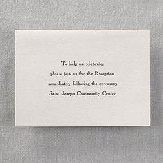 Shimmering Kind of Love - Reception Card weddingneeds.carlsoncraft.com