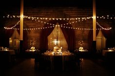 Cafe String Lights Reception Decor | Nashville Union Station Hotel wedding from Elizabeth Anne Designs http://www.kristynhogan.com