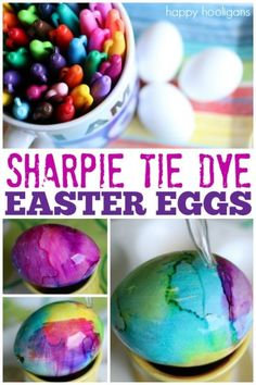 Incredibly Gorgeous Tie-Dye Easter Eggs for Kids to Make with Sharpies and Rubbing Alcohol