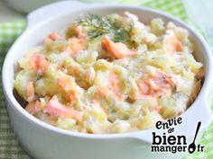 Brandade de saumon aux herbes fraîches Potato Salad, Potatoes, Ethnic Recipes, Food, Oeuvres, Mousse, Simple, Lunches, Cooking