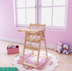 Trona multifuncional para sillas de mesa de madera maciza portátil ...