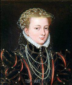 François Clouet (French, c. 1510 – 1572) - Portrait of Margaret Duchess of Parma, Regent of the Netherlands, c.1559/67