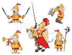 illustration of humor cartoon knights royalty-free stock vector art