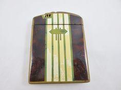 Vintage Ornate Cigarette Lighter Case RONSON A-49 Art Metal Works Newark NJ USA