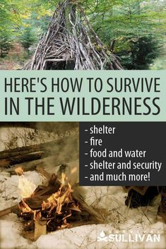 Here's How to Survive in the Wilderness [+ PDF Checklist] #SurvivalGearList Wilderness Survival, Survival Tools, Camping Survival, Survival Prepping, Homestead Survival, Survival Quotes, Survival Shelter, Outdoor Survival, Doomsday Prepping