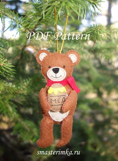 Excited to share the latest addition to my #etsy shop: Bear Felt doll Christmas tree toy Sewing PDF Pattern Felt Toy Soft Toy PDF Felt Pattern Instant Download Baby Sewing Pattern http://etsy.me/2BEzeog #materialy #ite #smasterimka #christmastreetoy #sewingpdfpattern #